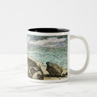 Clearing a Wreck on the North Coast of Cornwall, f Two-Tone Coffee Mug