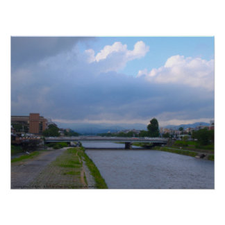 Clearing Skies Over Kyoto Print