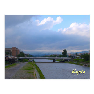 Clearing Skies Over the Kamo River Postcard