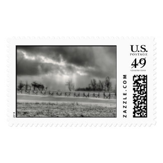 Clearing Snow Storm Postage