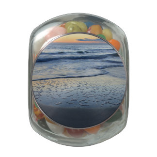 clearing storm at the beach jelly belly candy jar
