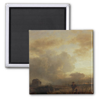 Clearing Thunderstorm in the Countryside, 1857 2 Inch Square Magnet