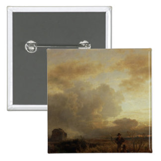 Clearing Thunderstorm in the Countryside, 1857 2 Inch Square Button