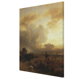 Clearing Thunderstorm in the Countryside, 1857 Canvas Print
