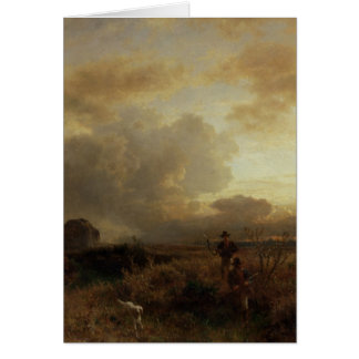 Clearing Thunderstorm in the Countryside, 1857 Card