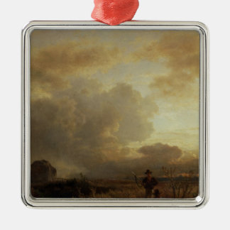 Clearing Thunderstorm in the Countryside, 1857 Metal Ornament