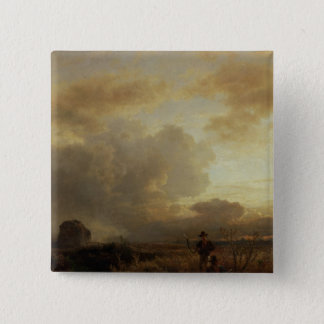 Clearing Thunderstorm in the Countryside, 1857 Pinback Button