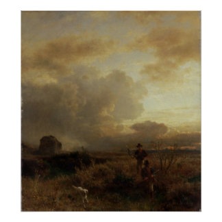 Clearing Thunderstorm in the Countryside, 1857 Poster