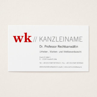 Clearly and dominant ones business card