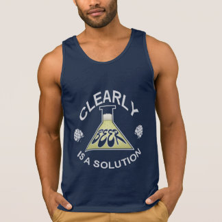 Clearly, Beer is a solution Tank Top