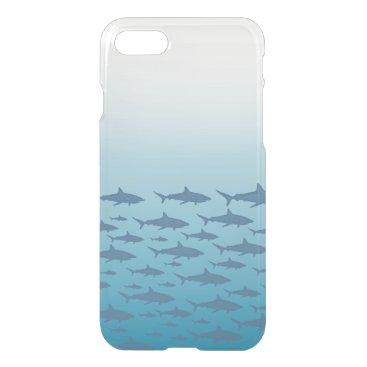 Beach Themed Clearly Deflector Shark Ocean Fish iPhone 7 Case