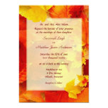 Clearly Fall Border 5x7 Wedding Invitations