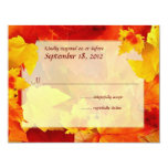 Clearly Fall Border Response Cards Personalized Invitation
