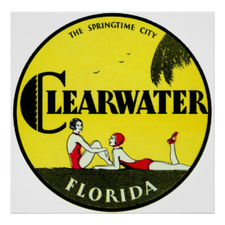 Clearwater 1925 la Florida Póster