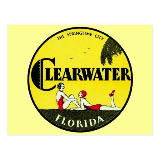 Clearwater 1925 la Florida Tarjeta Postal