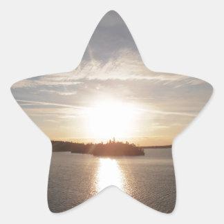 Clearwater Bay Sunrise Star Sticker