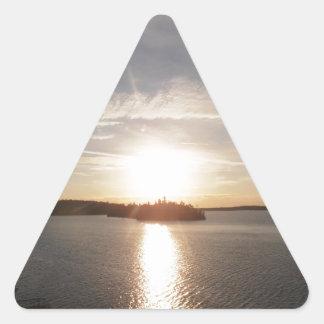 Clearwater Bay Sunrise Triangle Sticker