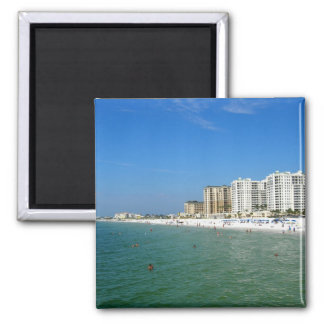 Clearwater Beach 2 Inch Square Magnet