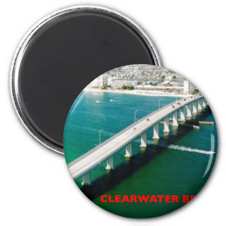 CLEARWATER BEACH FLORIDA 2 INCH ROUND MAGNET