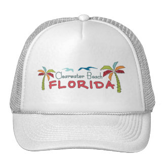 Clearwater Beach Florida artsy palms Trucker Hat