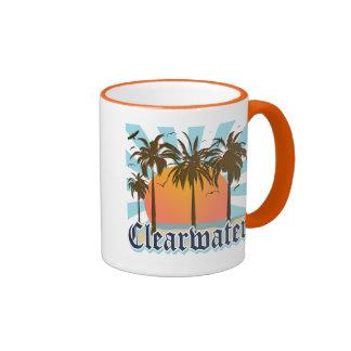 Clearwater Beach Florida FLA Ringer Coffee Mug