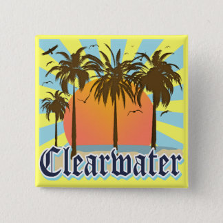 Clearwater Beach Florida FLA Pinback Button