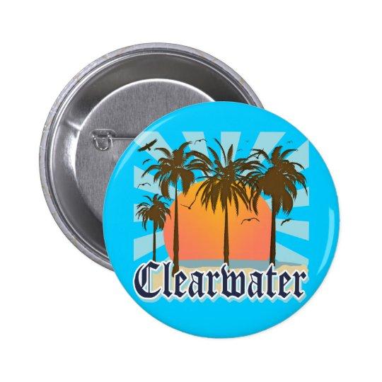 Clearwater Beach Florida FLA Pinback Button
