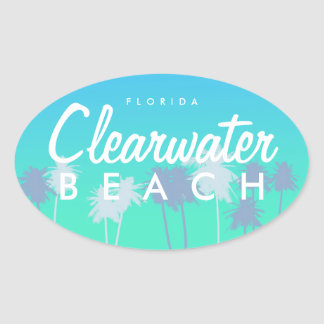 Clearwater Beach Oval Sticker
