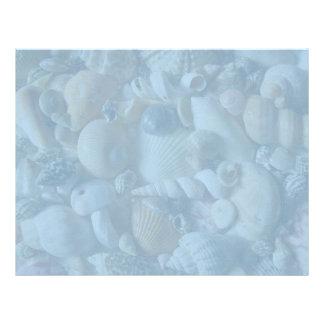 Clearwater Blue Blank Seashell Letterhead Paper