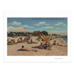 Clearwater, FL - Sunbathers on Clearwater Beach Post Card
