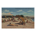 Clearwater, FL - Sunbathers on Clearwater Beach Posters
