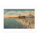 Clearwater, FL - Swimmers & Sunbathers on Beach Post Card