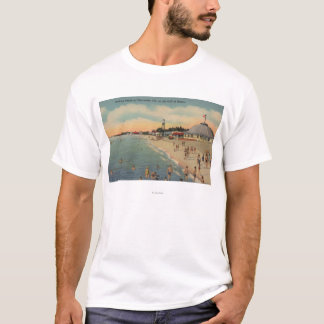 Clearwater, FL - Swimmers & Sunbathers on Beach T-Shirt