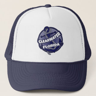 Clearwater Florida anchor swirl trucker hat