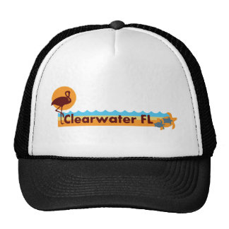 Clearwater Florida - Beach Design. Mesh Hat