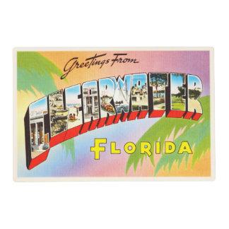 Clearwater Florida FL Old Vintage Travel Souvenir Placemat