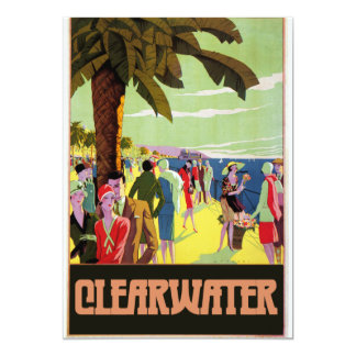 """Clearwater Florida 5"""" X 7"""" Invitation Card"""