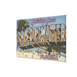 Clearwater, Florida - Large Letter Scenes 2 Canvas Print