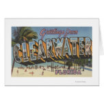 Clearwater, Florida - Large Letter Scenes 2 Greeting Card