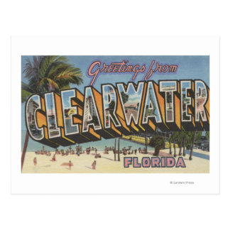 Clearwater, Florida - Large Letter Scenes 2 Post Card