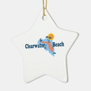 Clearwater Florida Map.Clearwater Beach Florida Ornaments Keepsake Ornaments Zazzle