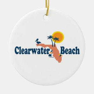 Clearwater Florida - Map Design. Ceramic Ornament