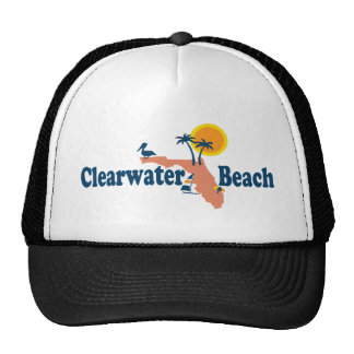 Clearwater Florida - Map Design. Hats