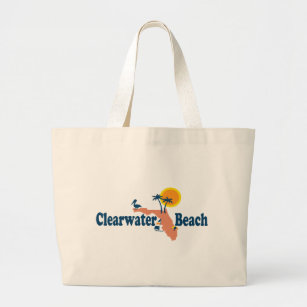 Clearwater Florida Map.Clearwater Beach Bags Zazzle