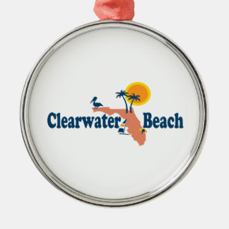 Clearwater Florida - Map Design. Metal Ornament