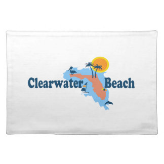 Clearwater Florida - Map Design. Place Mats