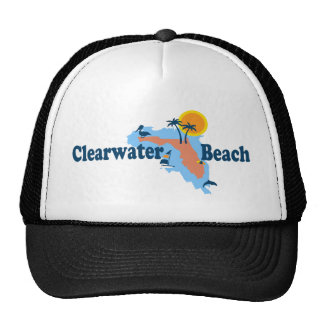 Clearwater Florida - Map Design. Trucker Hat