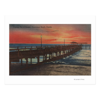 Clearwater, Florida - Sunset View of Fishing Pie Postcard