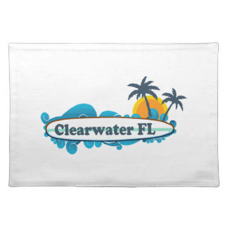 Clearwater Florida - Surf Design. Place Mats