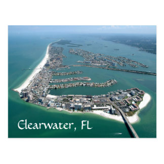 Clearwater Florida view from a plane postcard